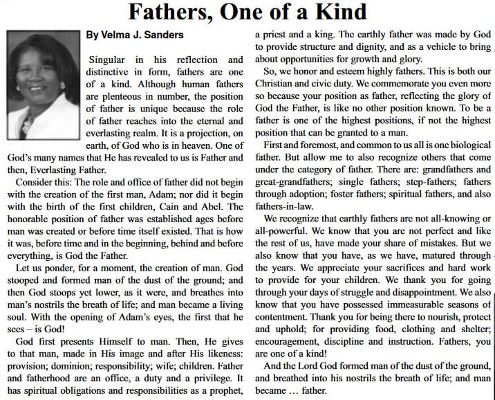 Fathers, One of a Kind