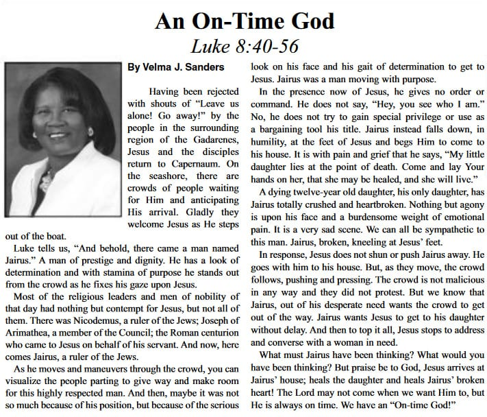 an on-time god article