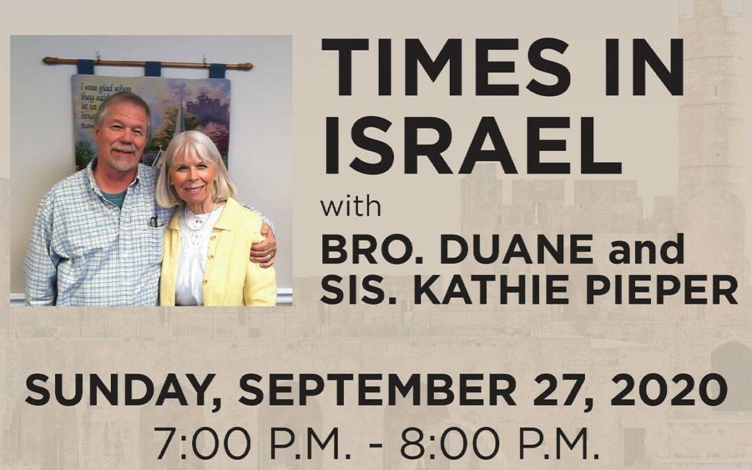 Times in Israel – September 27, 2020