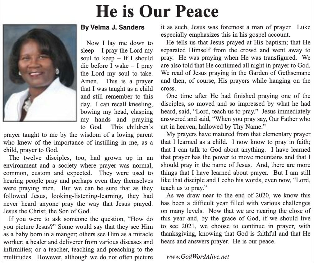 He Is Our Peace article
