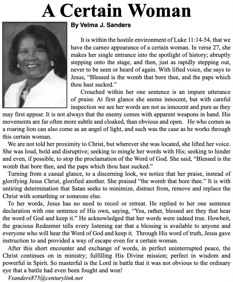A Certain Woman Article