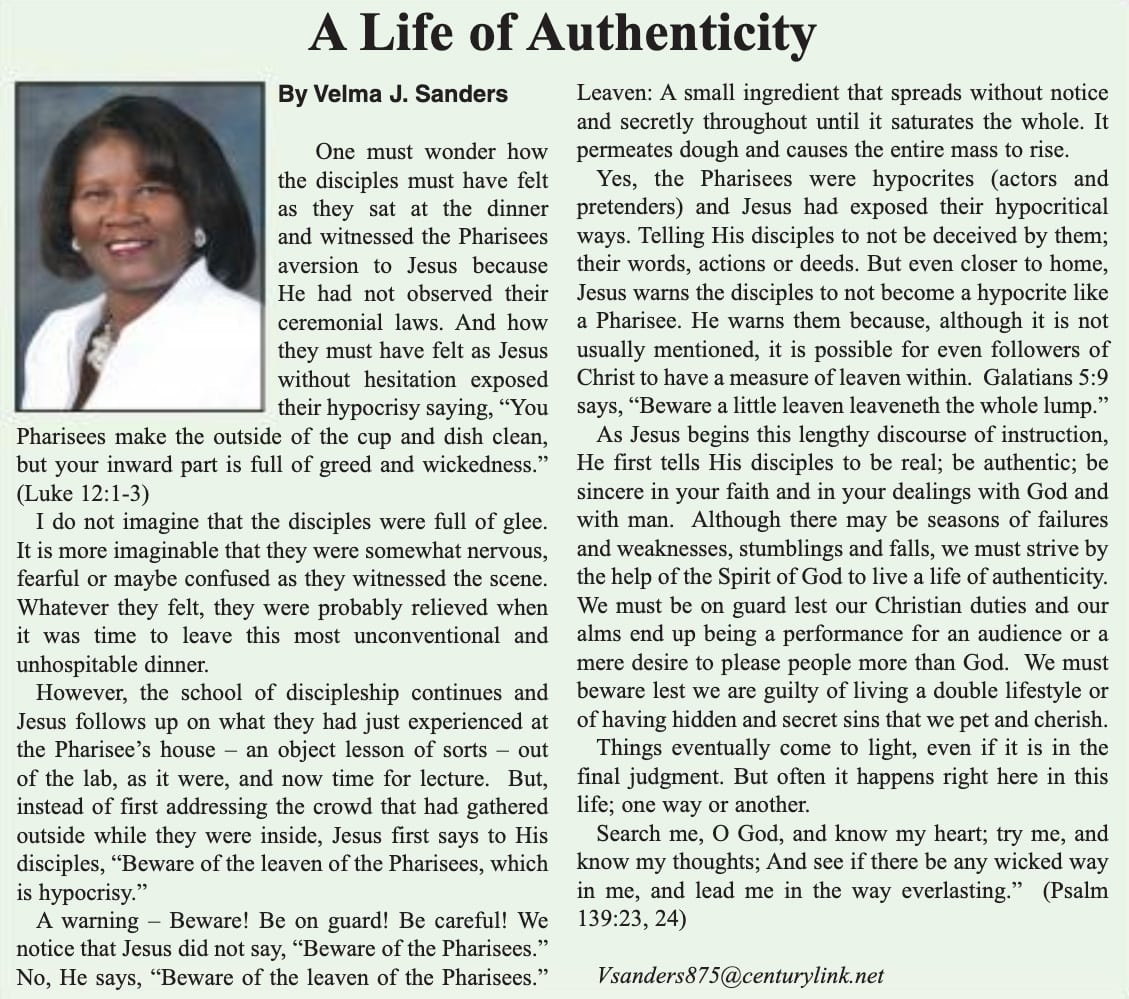 A Life of Authenticity article