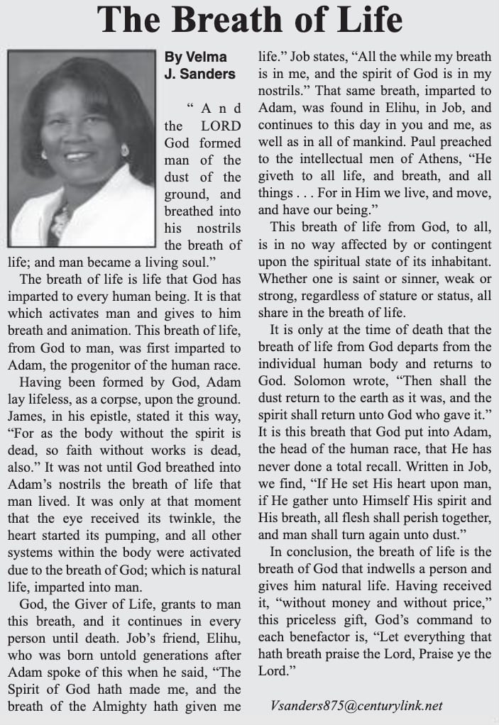 The Breath of Life article